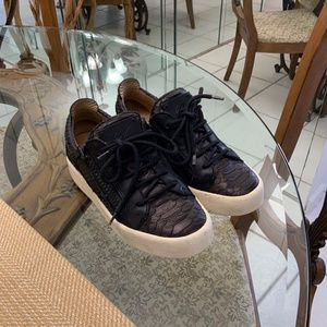 Giuseppe Zanotti low croc sneakers